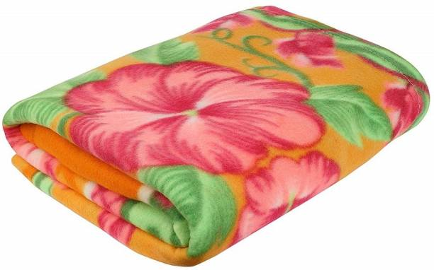 GAURALI CREATIONS Floral Single Fleece Blanket