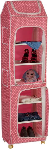Flipkart Perfect Homes Junior Polka 7, Pink PVC Collapsible Wardrobe
