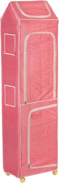 NHR Polka 7, Pink PVC Collapsible Wardrobe
