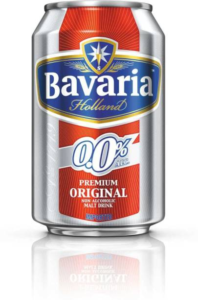 Bavaria Premium Original Non Alcoholic Malt Beer Drink 330 ml Each Pack of 3 ( Total 990 ml ) Can