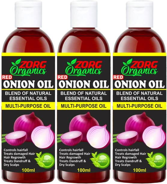Zorg Organics ONION Herbal Hair oil (Pack of 3) Hair Oil