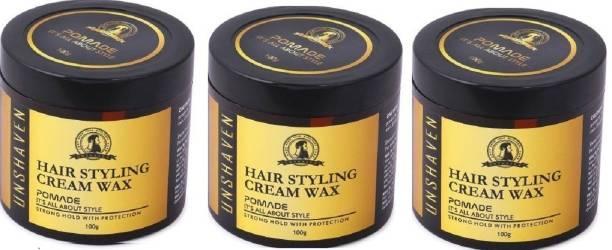 Unshaven Hair Styling Cream Wax 100 gm PACK OF 3 Hair Wax