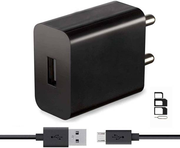 UrCart Wall Charger Accessory Combo for ZTE Blade A2 Plus, ZTE Blade V6, ZTE V5, ZTE Star 1, ZTE Blade Q Lux 4G, ZTE Blade L2 Charger With 1 Meter Micro USB Charging Data Cable And SIM Adapter