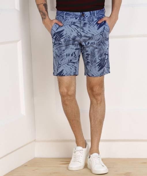 Scullers Printed Men Blue Beach Shorts