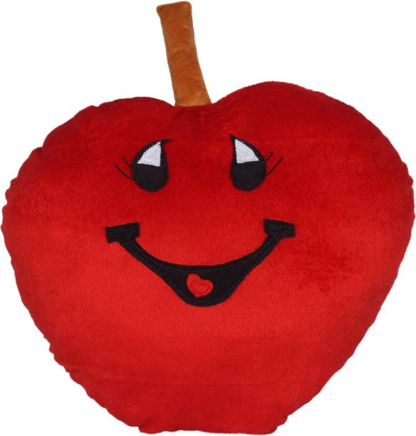 Miss & Chief Apple Fruit Soft Toy Premium Pillow  - 14 inch