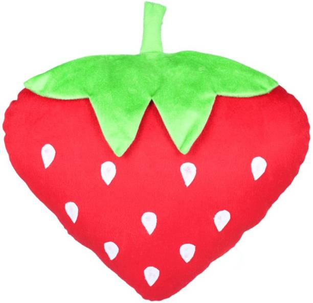 Miss & Chief Strawberry Fruit Soft Toy Premium Cushion  - 15 inch