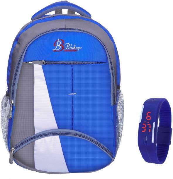 blubags Bags 36 liters Royal Blue Backpack & Blue LED Waterproof School Bag