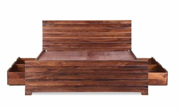APRODZ Solid Wood Queen Drawer Bed