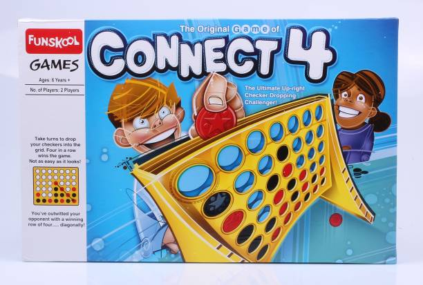FUNSKOOL The Original Game of Connect 4 Strategy & War Games Board Game
