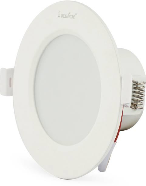 Klick Set Of Six 6-Watt LED Down Light Energy & Money Saving Light - ( Pack Of 6, White) Flush Mount Ceiling Lamp