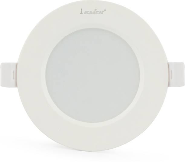Klick 7-Watt LED Down Light Energy & Money Saving Light - ( Single, White) Flush Mount Ceiling Lamp