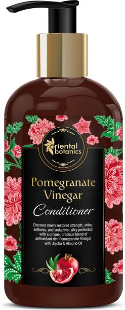 Oriental Botanics Pomegranate Vinegar Conditioner - For Healthy, Strong Hair with Antioxidant Boost & Golden Jojoba Oil, 300ml