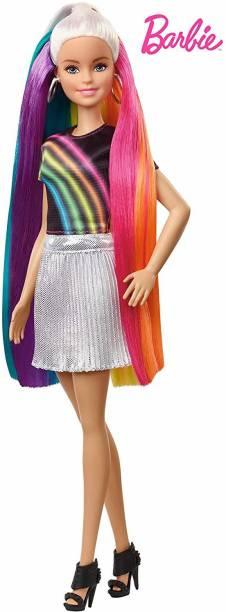 BARBIE Doll Rainbow Sparkle Style