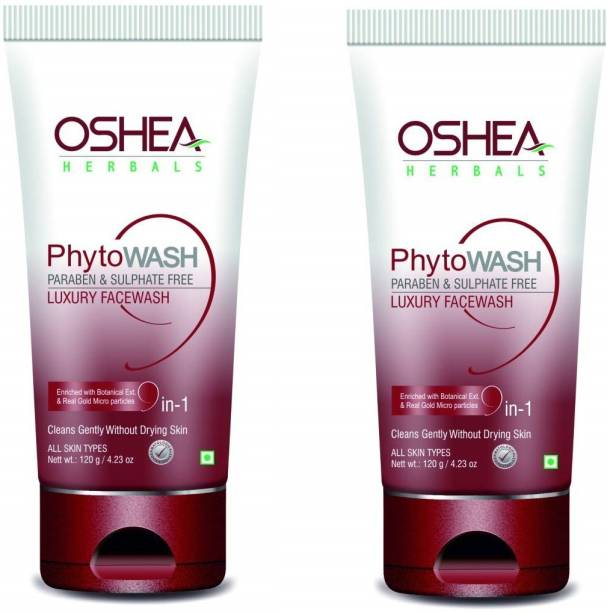 Oshea Herbals Phytowash Luxury , Transparent, 120 g PACK OF 2 Face Wash