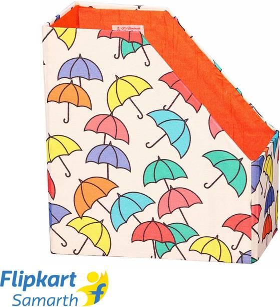 Indha Craft White Colour MDF Umbrella Print Table Top Magazine Holder