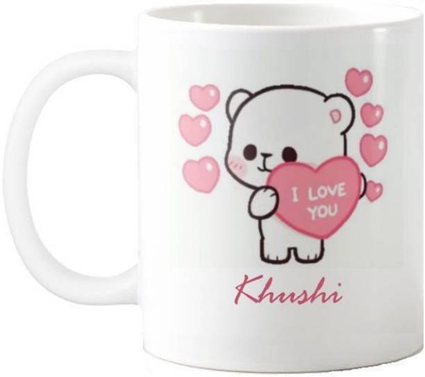 Exocticaa Khushi I Love You Romantic Quotes 67 Ceramic Coffee Mug