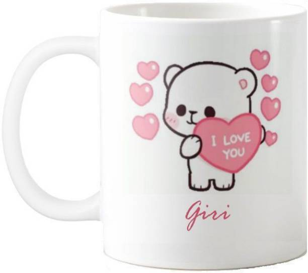 Exocticaa Giri I Love You Romantic Quotes 67 Ceramic Coffee Mug
