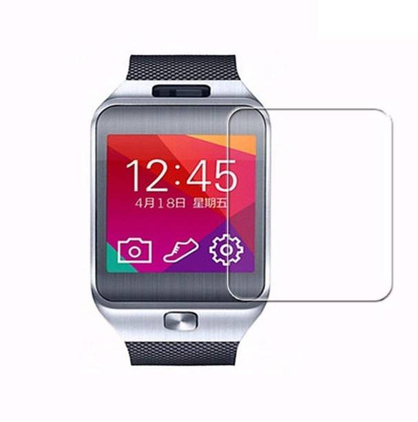 ACUTAS Tempered Glass Guard for Samsung Gear 2 R380 (Transparent) Full Screen Coverage (Except Edges) with easy installation kit