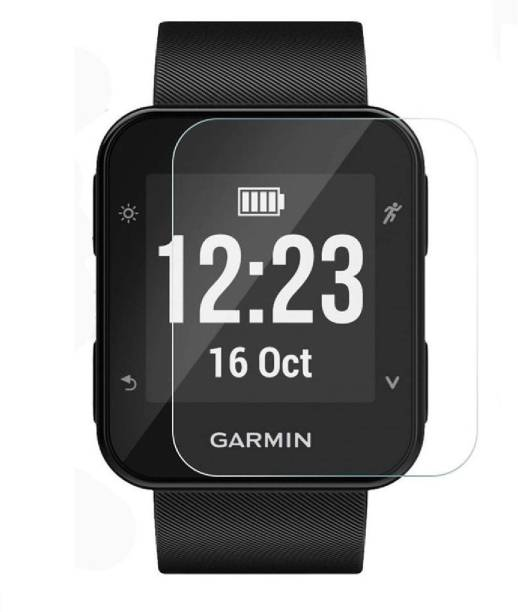 ACUTAS Tempered Glass Guard for Garmin Forerunner 35 F35 (Transparent) Full Screen Coverage (Except Edges) with easy installation kit