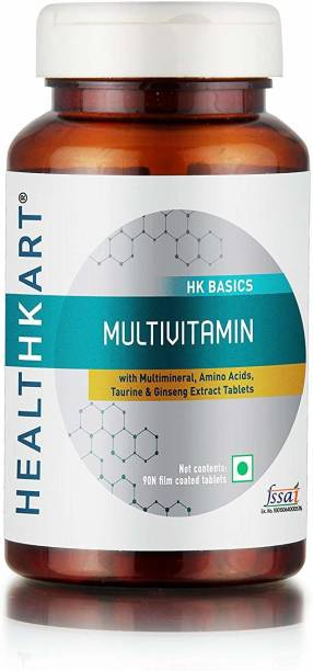HEALTHKART Multivitamin with Ginseng Extract, Taurine and Multiminerals