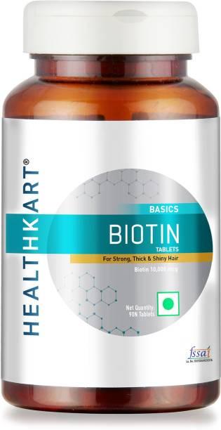 HEALTHKART Biotin Maximum Strength for Hair Skin & Nails-10000 mcg