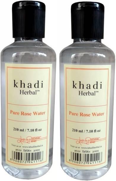 Khadi Herbal Pure Rose Water skin toner pack of 2