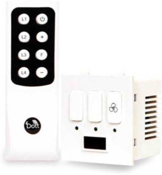 DOTT Modular Remote Control Switch For 2 Lights & 1 Fan One Way Wireless Electrical Switch(Pack of 1 Remote And 1 Switch) A Home Automation Device. One Way Electrical Switch 6 A One Way Electrical Switch
