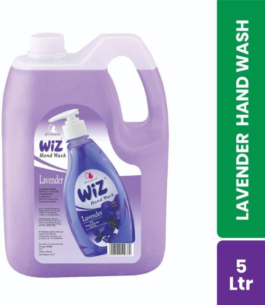 Wiz pH-Balance Extra Moisturizing Lavender Liquid Handwash, Give Complete Protection for Soft & Gentle Hands, Refill Pack Hand Wash Can