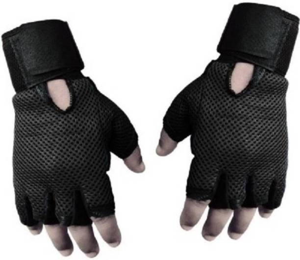Snipper Heavy Leather Netted Gym & Fitness Gloves