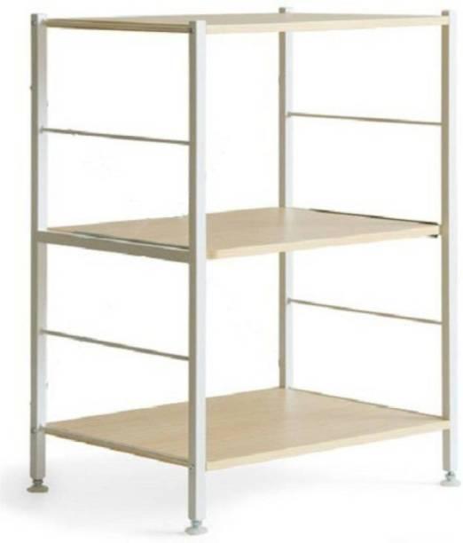 InnoFur Kinisi Storage Rack (Natural) Metal Crockery Cabinet