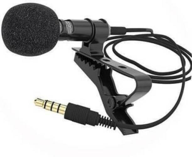 Mobfest Noise Cancelling ,Clip Microphone For Youtube   Collar Mike for Voice, I.2 Mtr in Length Microphone