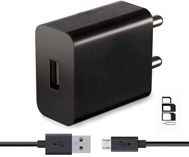 RunSale Wall Charger Accessory Combo for Honor 6X, Holly 2 Plus, 5X, 5C, Holly 3, 8 Smart, Bee, 4X, 6, 6 Plus, Holly, Huawei P8 Lite, Huawei Ascend G630, Huawei Ascend G6, Huawei Honor 3X Charger With 1 Meter Micro USB Charging Data Cable And SIM Adapter