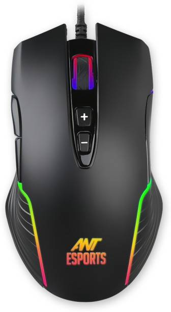 Ant Esports GM500RGB 1000 Hz Polling Rate 4000 Dpi for FPS and MOBA Wired Laser  Gaming Mouse