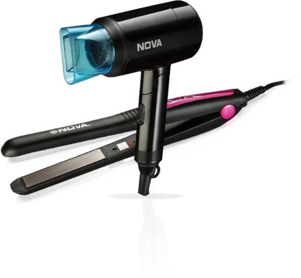 NOVA Hair dryer NHP 8105 + Hair Straightner NHS 840 Personal Care Appliance Combo