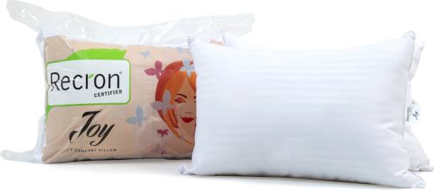 RECRON CERTIFIED Joy Microfibre Solid Sleeping Pillow Pack of 2