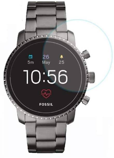 ACUTAS Tempered Glass Guard for Fossil Q Explorist HR (Gen 4) (Transparent) Full Screen Coverage (Except Edges) with easy installation kit