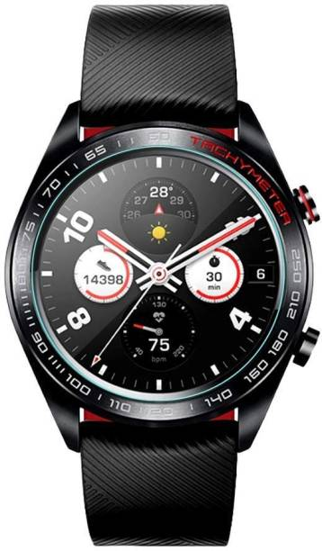 ACUTAS Tempered Glass Guard for Huawei Honor Watch Magic (Transparent) Full Screen Coverage (Except Edges) with easy installation kit