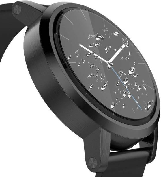 ACUTAS Tempered Glass Guard for Moto 360 1st Gen (Transparent) Full Screen Coverage (Except Edges) with easy installation kit