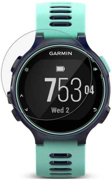 ACUTAS Tempered Glass Guard for Garmin Forerunner 735XT (Transparent) Full Screen Coverage (Except Edges) with easy installation kit