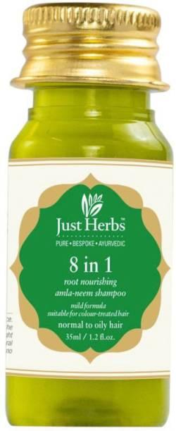Just Herbs 8 In 1 Root Nourishing Amla Henna Shampoo