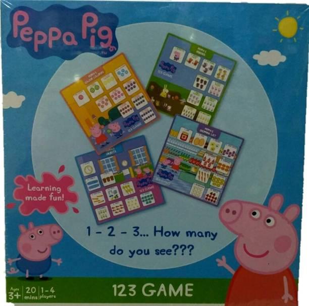 FUNSKOOL Peppa Pig 1 2 3 Game Party & Fun Games Board Game