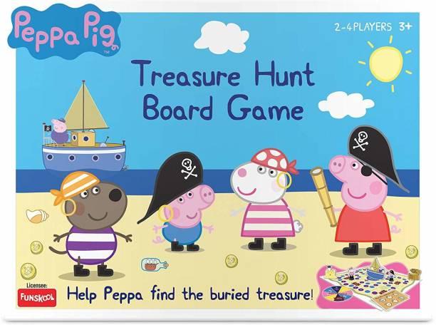 FUNSKOOL Peppa Treasure Hunt Gamae Party & Fun Games Board Game