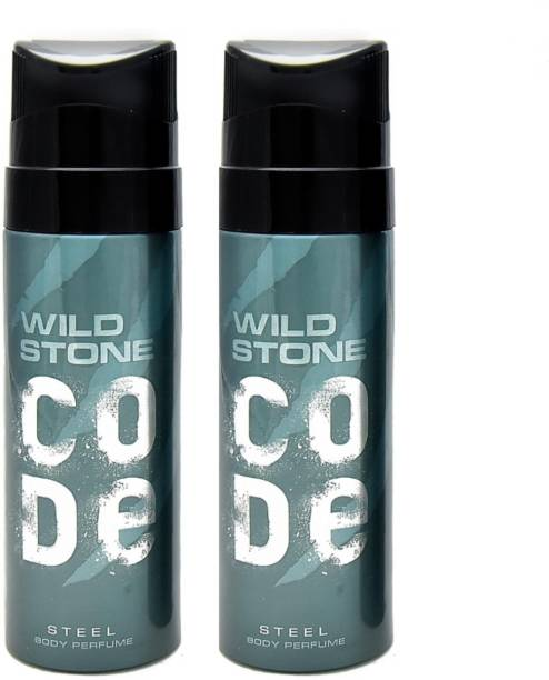 Wild Stone Code Steel Body Perfume set of 2 Perfume Body Spray  -  For Men