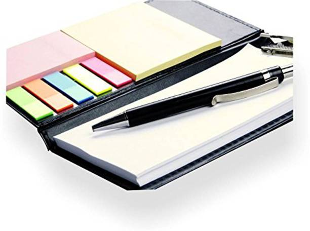 COI Diary Note Pad/Memo Book with Sticky Notes & Clip Holder with Pen for Gifting A5 Diary 50 Pages