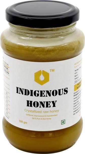 INDIGENOUS HONEY Raw Organic Crystallized Honey