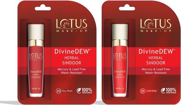 LOTUS MAKE - UP Divine Dew Sindoor Combo - Red & Maroon Sindoor