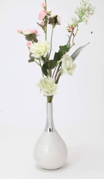 ALNICO Aluminium Casted Glossy Finish Designer Flower Vase Aluminium Vase