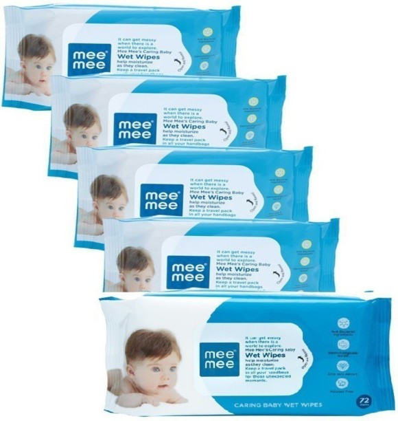 3 X Mee Mee Gentle Hand and Mouth Baby 72 WipesAloe VeraFree Shipping