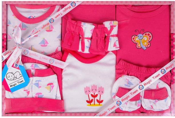 Magic Town Baby Gift Combo Set for Newborn - 13 Pieces (BLUE)