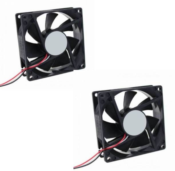 Mexico DC FAN - 80X80X25MM (12V) Pack of 2 for PC Case, CPU Cooler Radiator Cooler